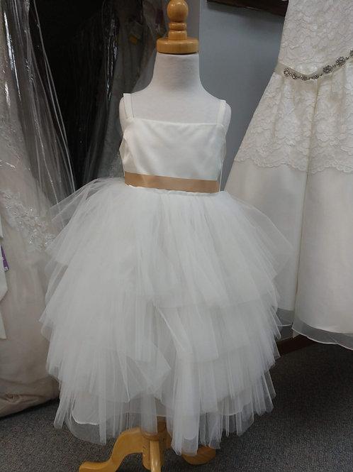Rosebuds Tea-Length Flower Girl Dress