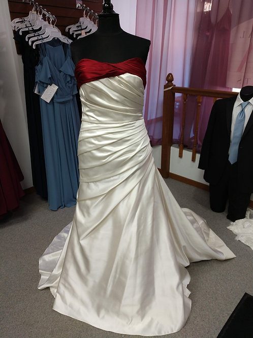 Discontinued Sincerity Satin Wedding Dress Size 16