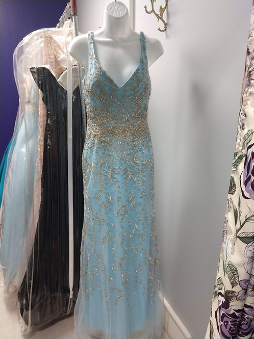 Colette Embroidered Prom Dress