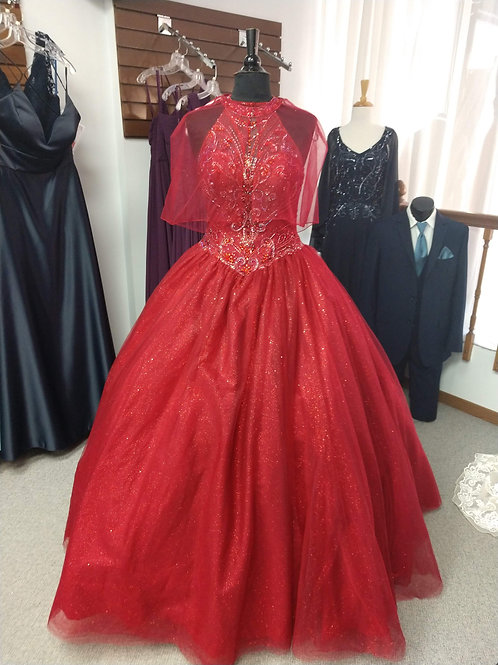 Mary's Bridal Quinceanera Dress in Wine