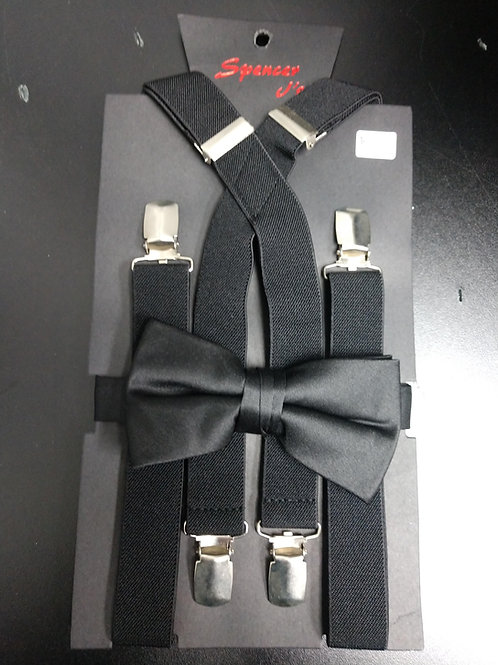 Bow-tie and Suspenders Set in Black
