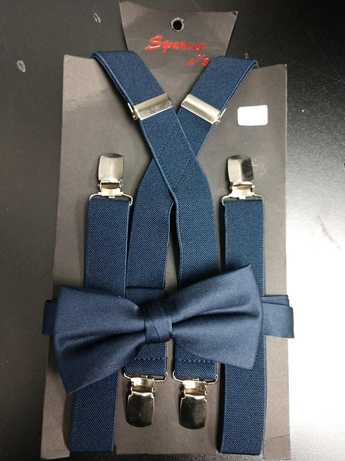 Bow-tie and Suspenders Set in Navy