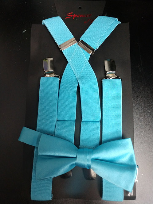 Bow-tie and Suspenders Set in Glacier