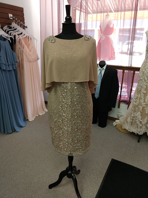 Emma Street Lace Dress with Attached Shawl