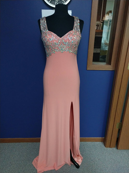 Studio 17 Prom Dress with Sweetheart Neckline in Apricot