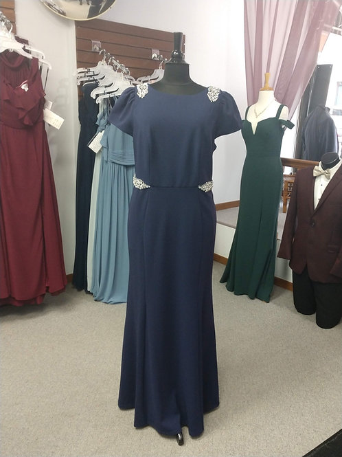 Cachet Floor Length Dress in Navy