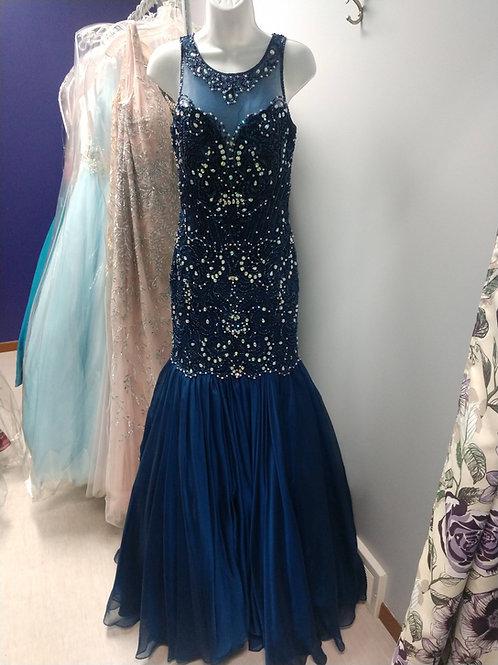 Tiffany Designs Mermaid Style Dress in Midnight