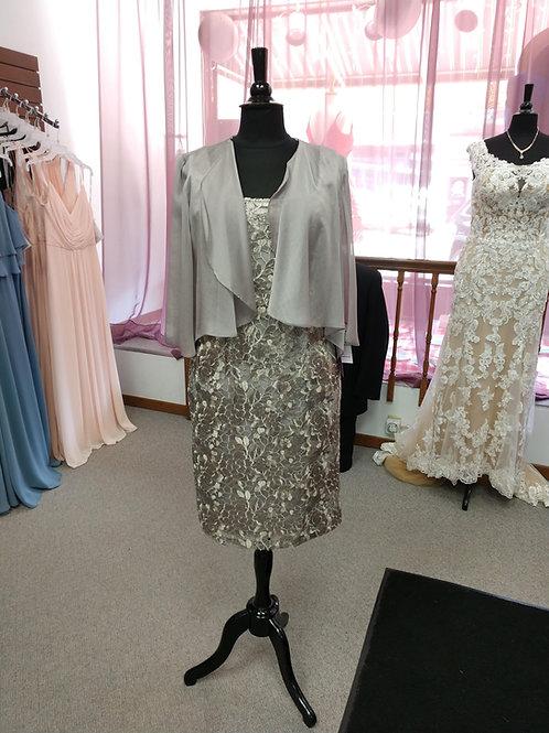 Alex Evenings 2 Piece Dress in Mink