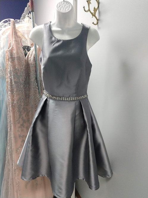 Cross-Back Party Dress