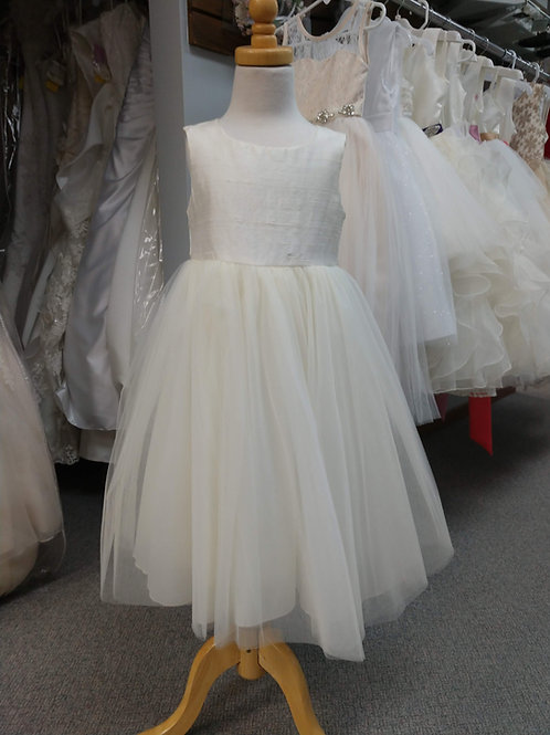 """Jenny"" Flower Girl Dress in Ivory"