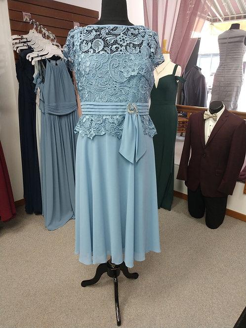 Emma Street Tea-Length Dress in Blue Bell