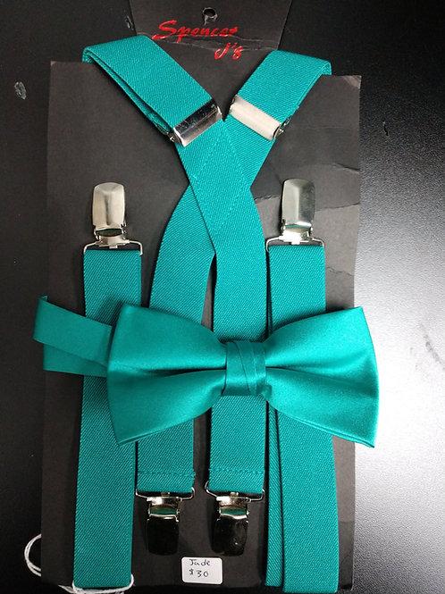 Bow-tie and Suspenders Set in Jade