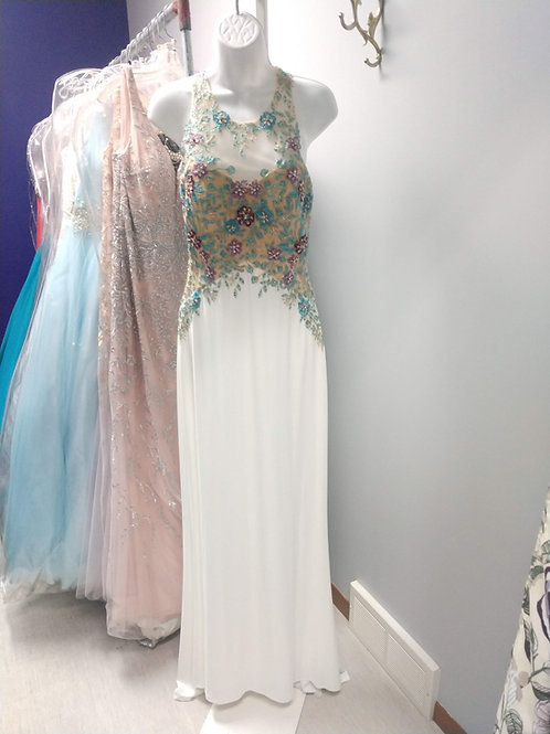 Studio 17 Prom Dress in Ivory/Multi