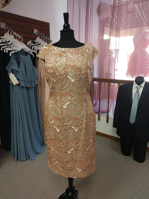 Alex Evenings Embellished Dress in Rose Gold