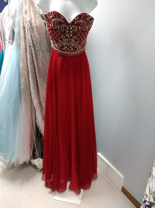 Studio 17 Sleeveless Prom Dress in Red