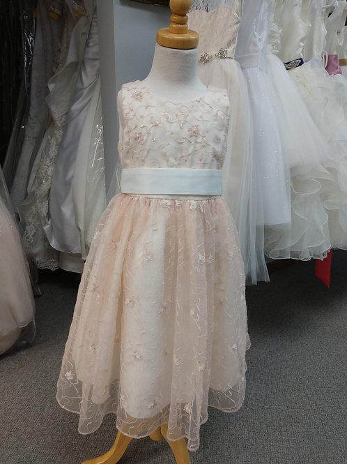 Tip Top Flower Girl Dress in Peach