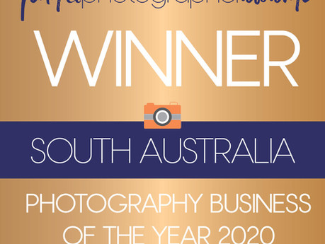 Winning 'Photography Business of the Year 2020' at Find a Photographer Australia!