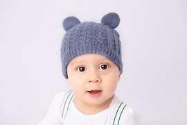 Baby with beanie