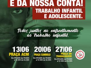 TRABALHO INFANTIL: 12 de Junho, Dia Mundial de Combate ao Trabalho Infantil.
