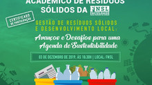 I SEMINÁRIO ACADÊMICO DE RESÍDUOS SÓLIDOS DA FNSL