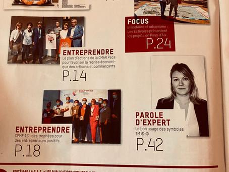 PUBLICATION DANS LES NOUVELLES PUBLICATIONS DU 25/09/2020 N°10 123 RUBRIQUE PAROLE D'EXPERT
