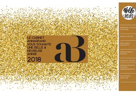 LE CABINET ANNABRAND VOUS ADRESSE SES MEILLEURS VOEUX POUR 2018