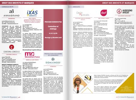 Parution dans le Journal du Management Juridique N° 67