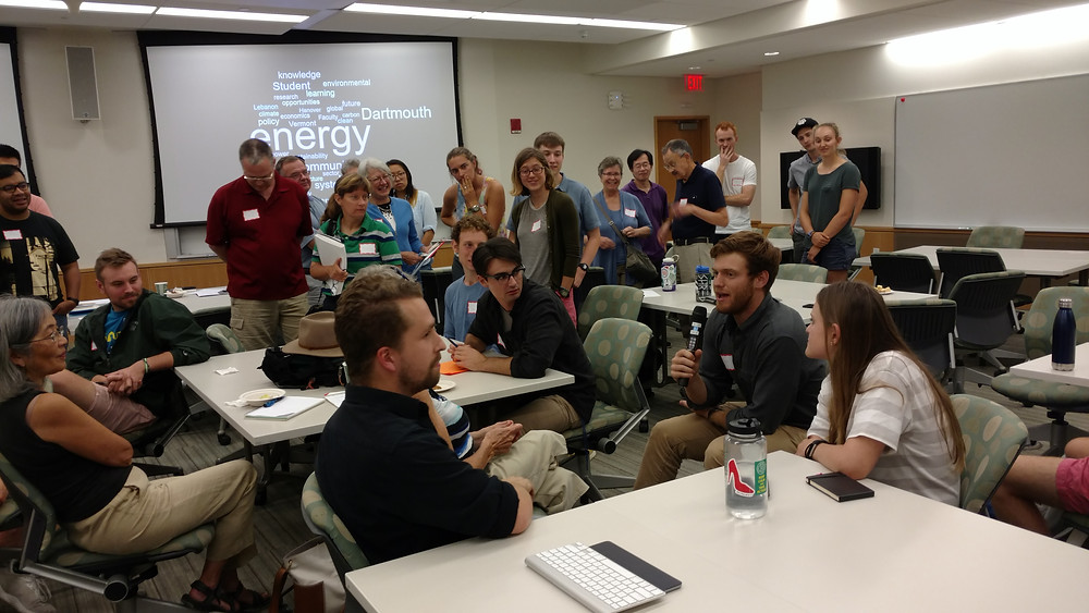 Students, staff, and community members participate in an Energy 101 workshop.
