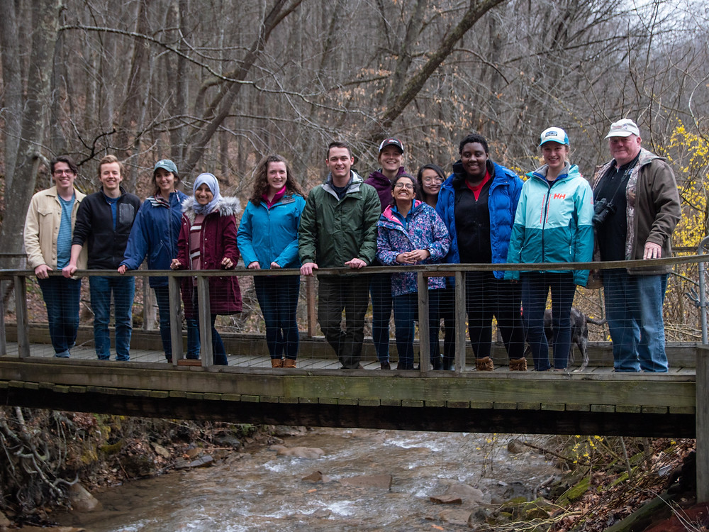 Our group with Mike King of the Morris Creek Watershed Association