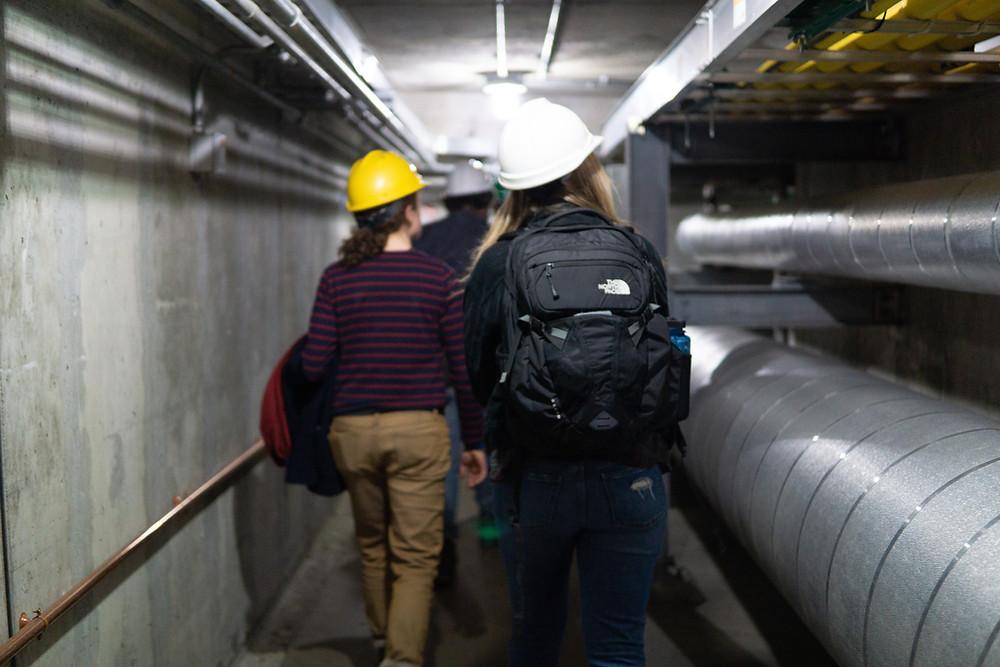 Series participants tour Dartmouth's cogeneration plant