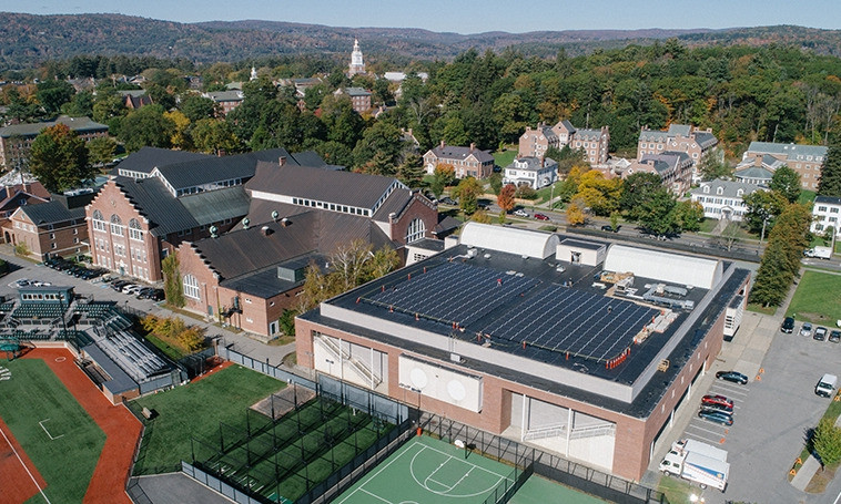 Solar Installation on Berry Sports Center