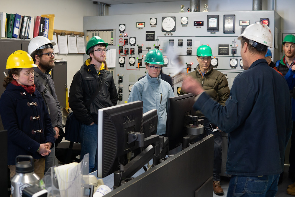 Series participants tour Dartmouth's cogeneration plant