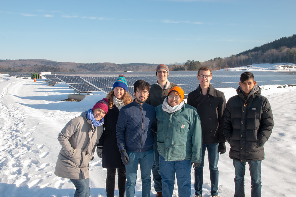 Students visit the Elizabeth Mine Solar Project in South Strafford, VT