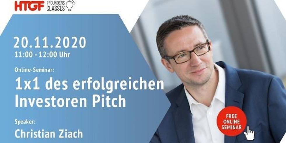 1. GROW Vortrag im WS 2020/21 - 1×1 des erfolgreichen Investoren-Pitch