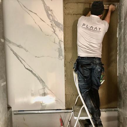 Seina plaatimistööd SLAB plaadiga_