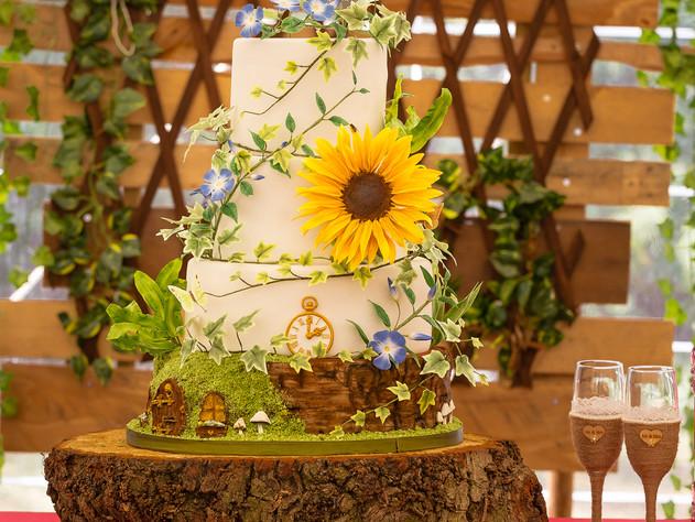 Norfolk wedding photography -Wedding cake