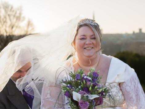 Norfolk Wedding Photography - Fun under the veil