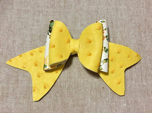 yellow double flower bow