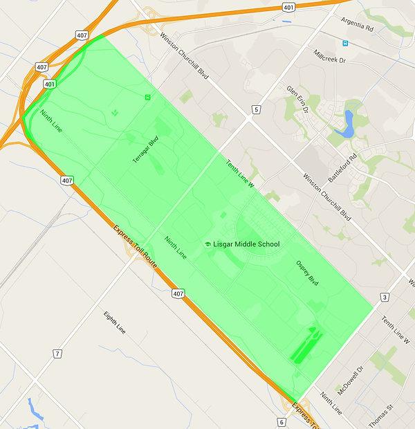 Lisgar Zone Map