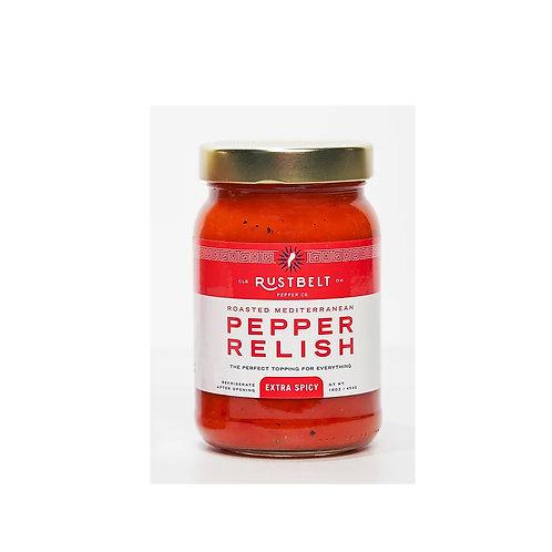 Rust Belt Extra Spicy Roasted Mediterranean Pepper Relish