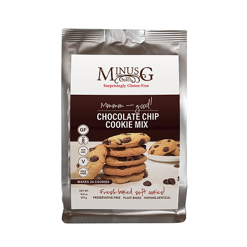 Minus G Gluten Free Baking Mixes Single Serving Chocolate Chip Cookies