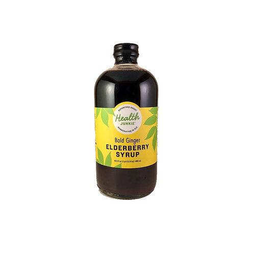 Health Junkie Elderberry Syrup Bold Ginger