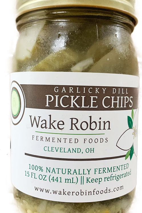 Wake Robin Pickle Chips (Garlicky Dill)