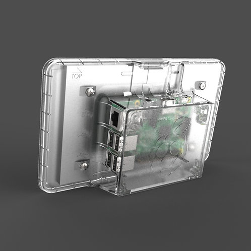 Raspberry Pi touch screen case (clear)