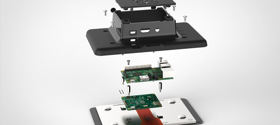 oneninedesign raspberry pi touch screen case components
