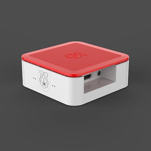 Quattro Case for Raspberry Pi (White & Red)