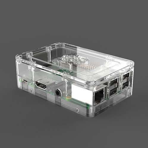 Raspberry Pi case (clear) for Pi 3 & 3B+