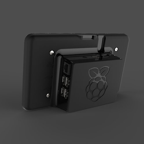 Raspberry Pi touch screen case (black)
