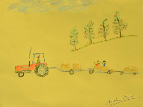 "Anselm Kiefer, ""tug picture"", 2017, crayon on paper , 22,5 x 30 cm © Anselm Kiefer, 2018 / Courtesy Pelz Collection, Stuttgart, Germany"