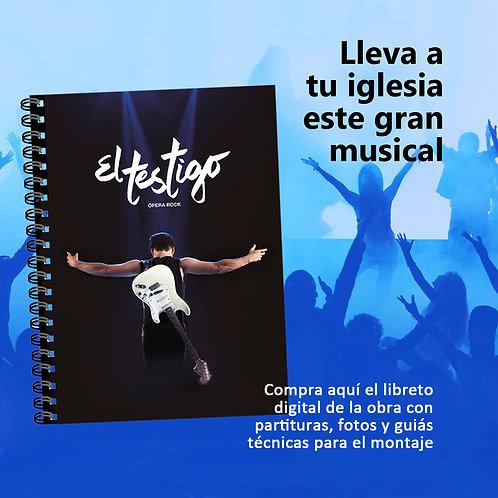"""LIBRO DEL MUSICAL ROCK """"EL TESTIGO"""""""